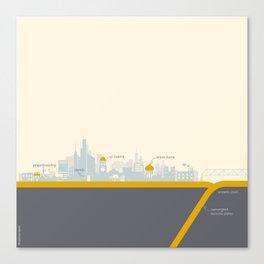 "City on a ""Plate"" Canvas Print"