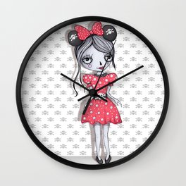 Minie Skull  Wall Clock