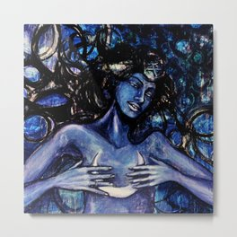 Nuit The Star Goddess Metal Print