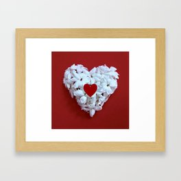 Heart Within Heart Framed Art Print