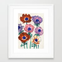 poppies Framed Art Prints featuring poppies by Ania
