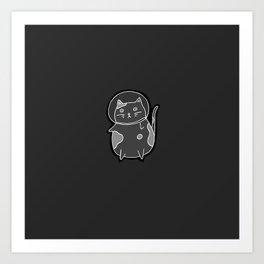 Space Cat II (Night Version) Art Print