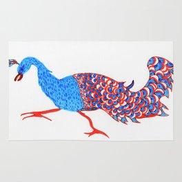 Evil eyed peacock Rug
