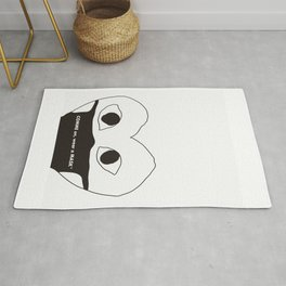Comme On Wear a Mask Rug
