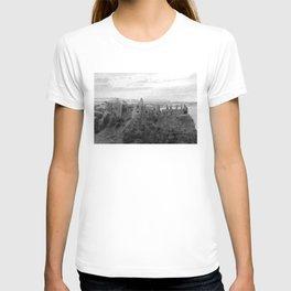 Castle Ruins   Irish Landscape   Black and White    Halloween   Nadia Bonello T-shirt