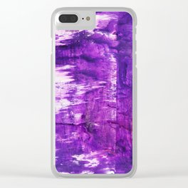 Purple Gore Clear iPhone Case
