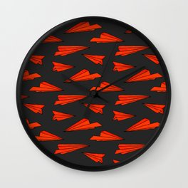 red planes Wall Clock