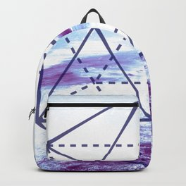 The Elements Geometric Nature Element of Water Backpack