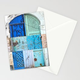 Blue Door Puzzle Stationery Cards