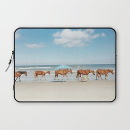 Summer Coast Horse Stride Laptop Sleeve