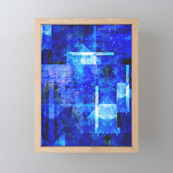 Sapphire Nebulæ Framed Mini Art Print