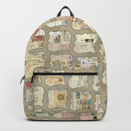 QUirky  Documents grid linen Backpack