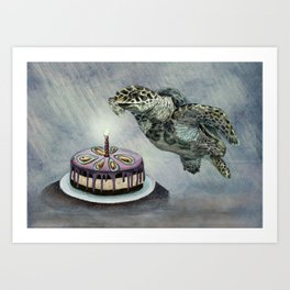 Turtle Birthday Art Print