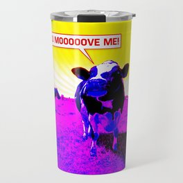 Psychedelic Cows Travel Mug