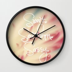 Sweet. Southern. Sassy. Wall Clock