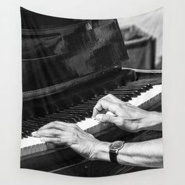 Play the Piano Wall Tapestry