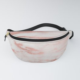 White Marble with Rose Gold Foil Fanny Pack