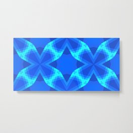 Bluefull Interlockings Metal Print