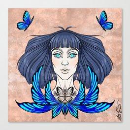 Morpho Blue Canvas Print