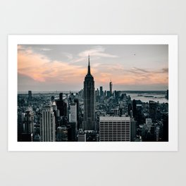 The Empire State Building New York Skyline Art Print