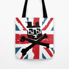 Bear Picnic Union Jack Tote Bag