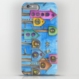 Muticolor Bird house iPhone Case