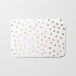 Stylish Gold Polka Dots Bath Mat