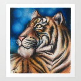 """Tiger"" Drawing Art Print"