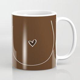 Boobs - Dark Brown Coffee Mug