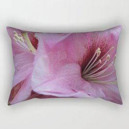 Garden Spring Flowers Pink Rhododendrons Rectangular Pillow