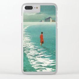 Waiting For The Cities To Fade Out Clear iPhone Case