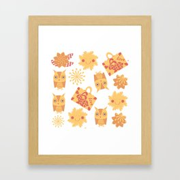 Travel pattern 4bg Framed Art Print