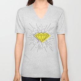 Shiny diamond Unisex V-Neck