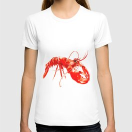 Red Kitchen Seafood Red Lobster design, art, painting Boston T-shirt