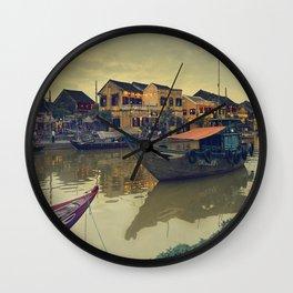 Old boats Wall Clock