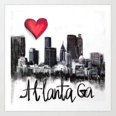I love Atlanta Art Print