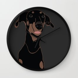 Doberman - Black Diamond Wall Clock