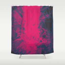 Shattered Purple Shower Curtain