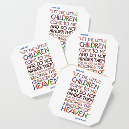 Let the little children come to me Coaster