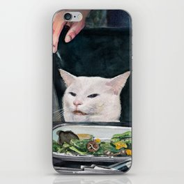 Woman Yelling at Cat Meme-2 iPhone Skin