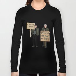 """DOWN WITH THIS SORT OF THING!..careful now"" Long Sleeve T-shirt"