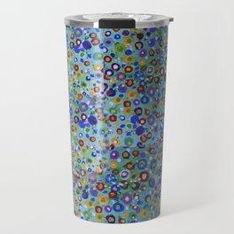 Wild Flowers Abstract Travel Mug