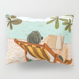 Vacay Book Club #illustration #tropical Pillow Sham