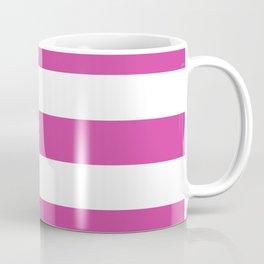 Barbie Pink (1975-1990) - solid color - white stripes pattern Coffee Mug