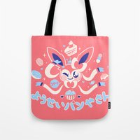 "sylveon Tote Bags featuring ""Sweet"" Fairy Bakery by Miski"