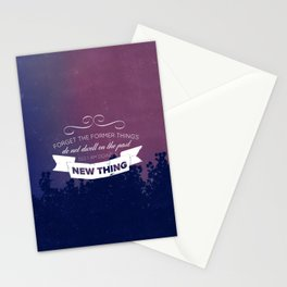 Forget the Past - Isaiah 43:18-19 Stationery Cards