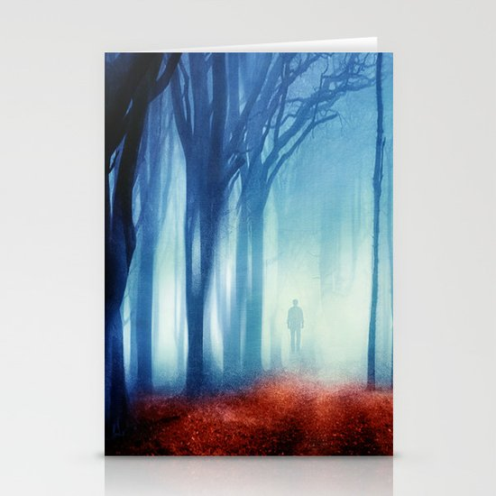 In The Mist she Was Standing Stationery Cards