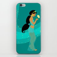 jasmine iPhone & iPod Skins featuring Jasmine by Eva Duplan Illustrations