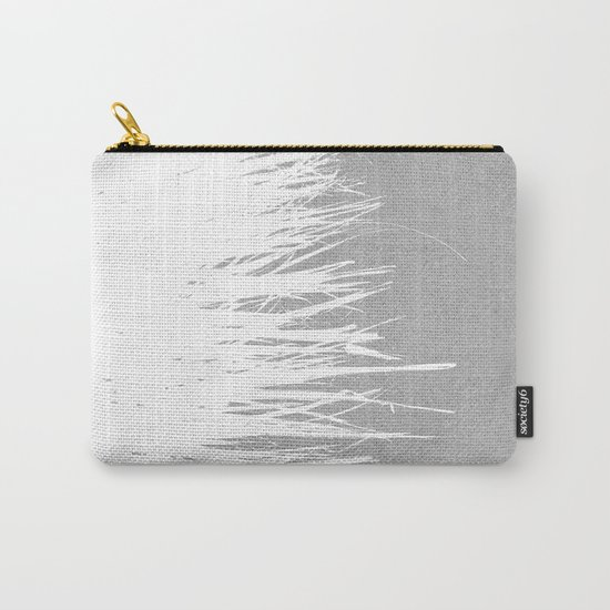 Concrete Fringe White Side Carry-All Pouch