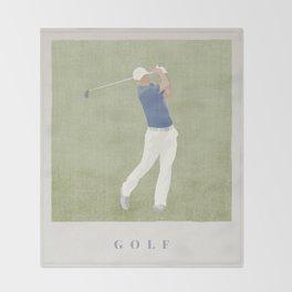 SUMMER GAMES / Golf Throw Blanket